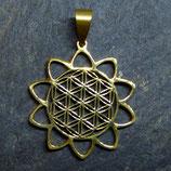 Schmuckanhänger Lotussame (vergoldet)