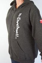 Tauchwelt Kapuzen Shirt mit Reißverschluß Antrathicite