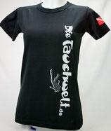 Tauchwelt T-Shirt Damen schwarz
