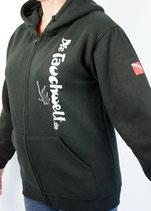 Tauchwelt Kapuzen Shirt mit Reißverschluß schwarz