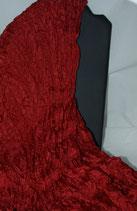 -verkauft- Anfertigung auf Anfrage -Dunkelroter Pongeseidenschal 90 x 0170 cm - Plisseetechnik - Unikat -