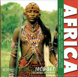 AFRICA 10-CD Box-Set (Kenya, Zaire, Uganda, Ghana; Safari Sound Band, Them Mushrooms, u.a.)