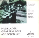 Musiklager Gitarrenlieder Adelboden 1965