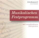 Musikalisches Festprogramm - Livekonzert Zionshalle 2006