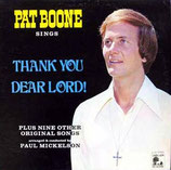 Pat Boone - Thank You Dear Lord