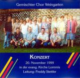 Gemischter Chor Weingarten - Konzert 20.11.1999
