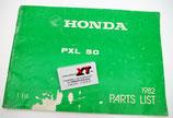 PX25 HONDA Ersatzteilliste / Parts List 1982
