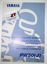 PW50J Fahrerhandbuch / Owner´s Manual