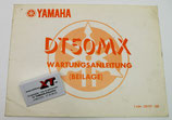 DT50MX Beilage Wartungs-anleitung / Manual Addition