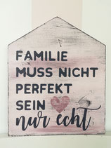 "Holzschild Hausform ""Familie"""