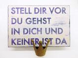 """Holzschild """"keiner da"""""""