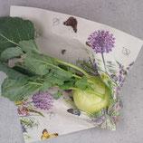 """veganes Wachstuch """"L"""" - 35x35 cm - Blumenwiese bunt"""