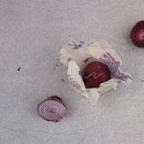 """veganes Wachstuch """"S"""" - 15x15 cm - Blumenwiese bunt"""