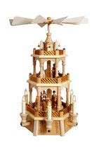 Pyramide Christi Geburt natur mit Engel elektrisch