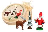 Spandose Weihnachtsmann mit Hirsch
