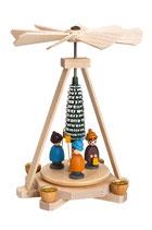 Minipyramide mit Laternenkindern