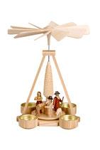 Teelichtpyramide mit Christi Geburt