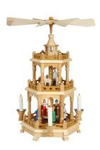 Pyramide Christi Geburt bunt