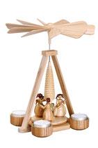 Teelichtpyramide mit Engel