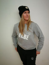 Unisex Sweatshirt ELBE (grau / weiß)
