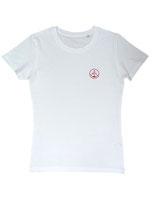 Damen T-Shirt moin (weiß / rot)