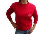 Unisex Sweatshirt moin (rot / weiß)