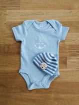 Babyset (babyblau / weiß)