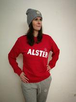 Unisex Sweatshirt ALSTER (rot /weiß)