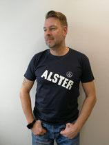 Herren T-Shirt ALSTER (navy / weiß)