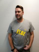 Herren T-Shirt ELBE (grau / gelb)