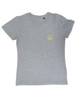 Damen T-Shirt moin (grau / gelb)