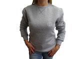 Unisex Sweatshirt moin (grau / weiß)