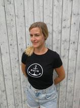 Damen T-Shirt MOIN (schwarz / weiß)