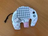 Elefant klein, mit Therapieraps gefüllt, 17x13 cm