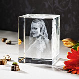 3D Foto im Glas als Geschenk - 3D Laser Foto im Mega Viamant