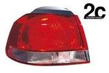 Fanale Posteriore Esterno Sx  Rosso Bianco  Imp Hella S/Portalampada
