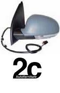 Specchio Sx  Elettrico Termico C/Primer C/ Fanalino  Richiudibile