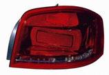 Fanale Posteriore Dx 3Porte Rosso S/Portalampada