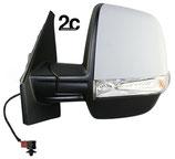 Specchio Sx Elettrico C/Primer Termico e Fanalino 6 Pin