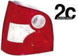 Fanale posteriore Sx Bianco/Rosso  S/Portalampada