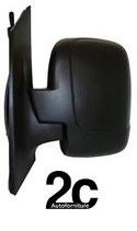Specchio Dx Meccanico Nero 1 Vetro