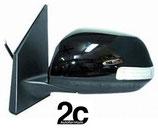 Specchio Sx Elettrico Termico C/Primer e Fanalino 9 Ribaltabile