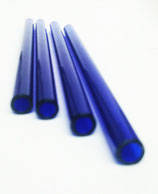 5 x Glasstrohalme, blau (10 x 200 mm)