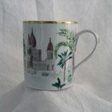 Mug filet or et décor