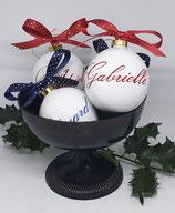 Boule de Noël personnalisée avec un prénom