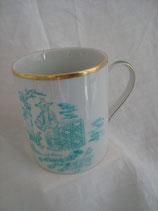 Mug filet or et décor chinois