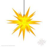 Herrnhuter LED Advents-und Weihnachts Stern A7, 68 cm, Kunststoff, gelb, für Außen, wetterfest