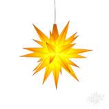 Herrnhuter LED Advents-und Weihnachts Stern A1e, 13 cm, Kunststoff, gelb
