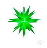 Herrnhuter LED Advents-und Weihnachts Stern A1e, 13 cm, Kunststoff, grün, LED Beleuchtung