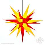 Herrnhuter Advents-und Weihnachts Stern A13, ca. 130 cm, Kunststoff, Gelb / Rot, für Außen, wetterfest